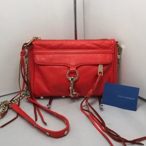 Rebecca Minkoff Bright Orange Mini MAC Crossbody